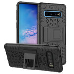 Dual Layer Rugged Tough Case for Samsung Galaxy S10+ (Black)